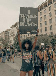 Demo-Plakat: I wake up black