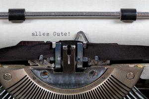 Schreibmaschine: Alles Gute!